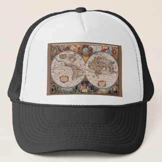 17th Century original World Map1600s Trucker Hat