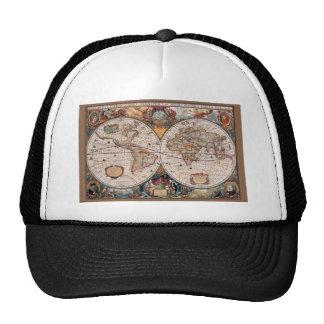 17th Century original World Map1600s Trucker Hat