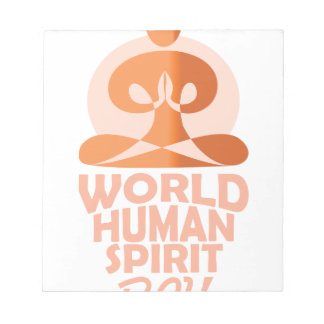 17th February - World Human Spirit Day Notepad