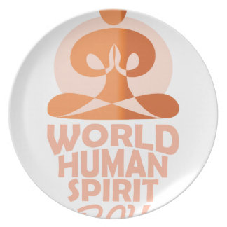 17th February - World Human Spirit Day Party Plates