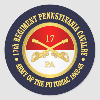 17th Pennsylvania Cavalry Classic Round Sticker