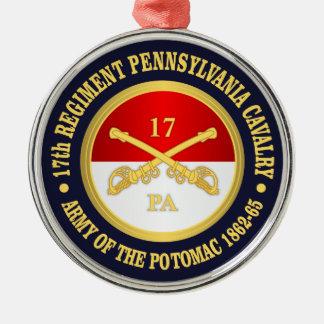 17th Pennsylvania Cavalry Metal Ornament