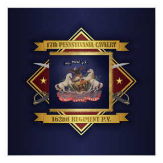 17th Pennsylvania Cavalry Poster