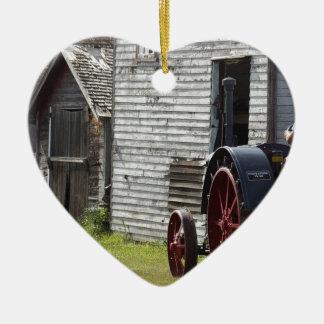 1800's Steam Tractor Ceramic Ornament