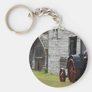 1800's Steam Tractor Keychain
