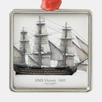 1805 Victory ship Metal Ornament