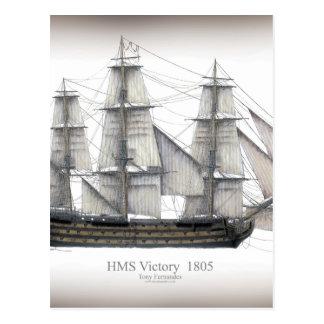 1805 Victory ship Postcard