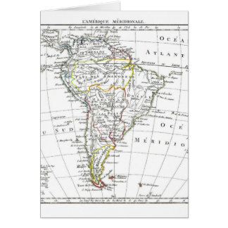 1806 Map - L'Amérique Méridionale Card