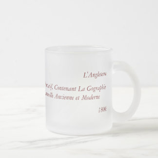 1806 Map - L'Angleterre Frosted Glass Mug