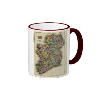 1813 Ireland Map by John Pinkerton Coffee Mugs
