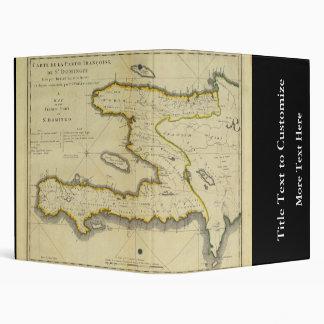 1814 Haiti Map by Mathew Carey Vinyl Binder