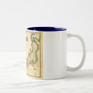 1815 Map of Korea and Japan Two-Tone Coffee Mug