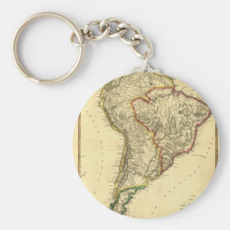 1817 Map of South America Keychain