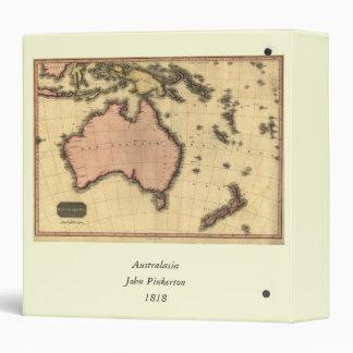 1818 Australasia Map - Australia, New Zealand Vinyl Binder