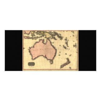 1818 Australasia  Map - Australia, New Zealand Customized Rack Card
