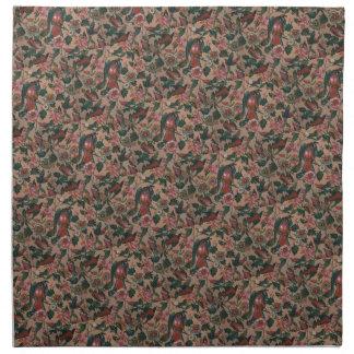 1830s Vintage Floral Roller Printed Cotton Napkin