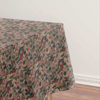 1830s Vintage Floral Roller Printed Cotton Tablecloth