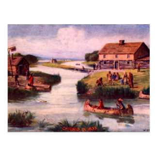 1833 Chicago Frontier Postcard