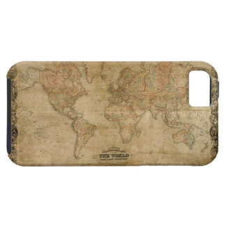 1847 Vintage Old Gold World Map iPhone 5 Case