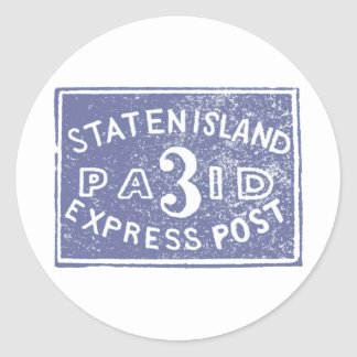 1849 Staten Island Express, Blue Round Sticker