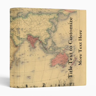 1850's Map of British Empire Throughout the World Binders
