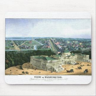 1852 Color Lithograph - View of Washington Mouse Pad