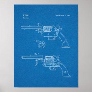 1854 Gun Patent Art Drawing Print