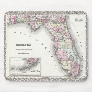 1855 Colton Map of Florida Mouse Pad