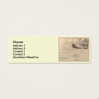 1858 Map Iles Marquises, France (Marquesas Island) Mini Business Card