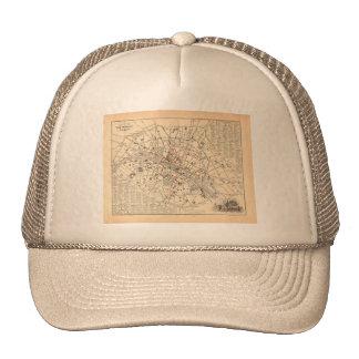 1858 Map: Itineraire des Omnibus dans Paris France Trucker Hat