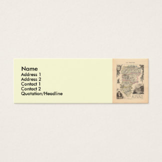 1858 Map of Aisne Department, France Mini Business Card