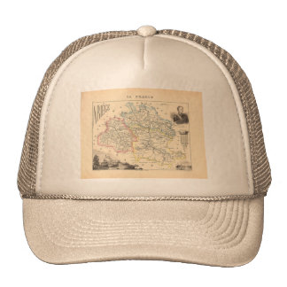 1858 Map of Ariege Department, France Trucker Hat