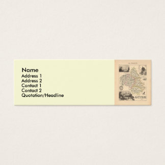 1858 Map of Aveyron Department, France Mini Business Card