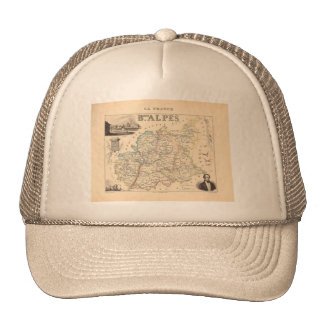 1858 Map of Basses Alpes Department, France Trucker Hat