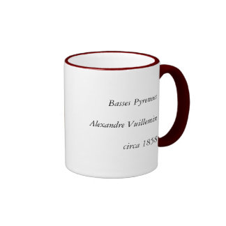 1858 Map of Basses Pyrenees Department, France Ringer Coffee Mug