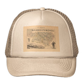 1858 Map of Basses Pyrenees Department, France Trucker Hat