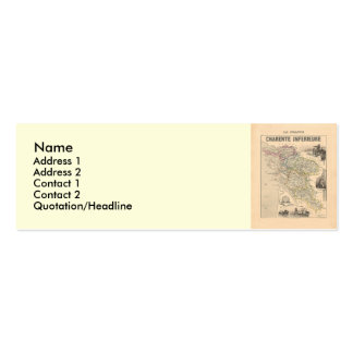1858 Map of Charente Inferieure Department, France Mini Business Card