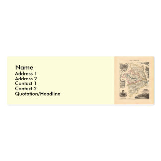 1858 Map of Cher Department, France Mini Business Card