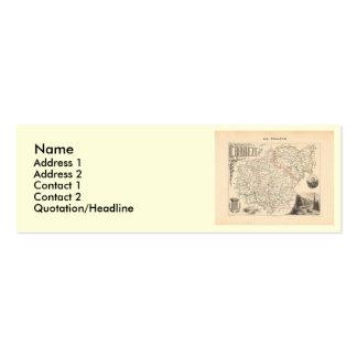 1858 Map of Correze Department, France Mini Business Card
