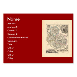 1858 Map of Cote d'Or Department, France Large Business Card