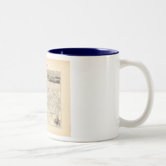 1858 Map of Cotes du Nord Department, France Two-Tone Coffee Mug