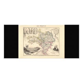 1858 Map of Gard Department, France Custom Rack Cards