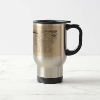 1858 Map of Guadeloupe Department, France 15 Oz Stainless Steel Travel Mug