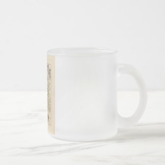 1858 Map of Indre Department, France 10 Oz Frosted Glass Coffee Mug