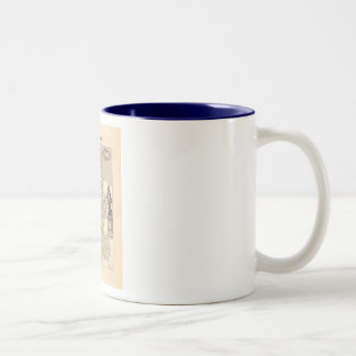 1858 Map of Manche Department, France Two-Tone Coffee Mug