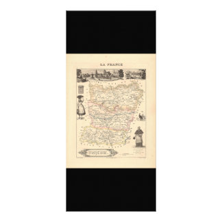 1858 Map of Mayenne Department, France Rack Card