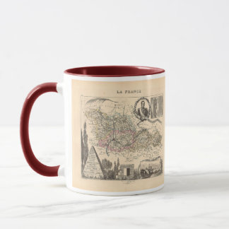 1858 Map of Moselle Department, France Mug
