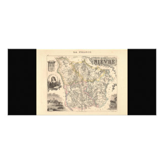 1858 Map of Nievre Department, France Customized Rack Card