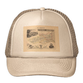 1858 Map of Pyrenees Orientales Department, France Trucker Hat