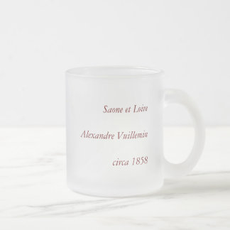 1858 Map of Saone et Loire Department, France Frosted Glass Coffee Mug